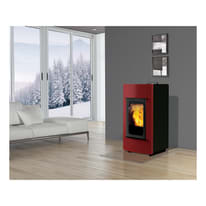 Stufa pellet idro INNOFIRE Pixa Più 30.3 kW bordeaux