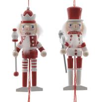 Schiaccianoci bianco e rosso, in 2 versioni assortite , L 4 cm x P 5 cm