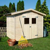 Casetta da giardino in legno Gyor 5.58 m² spessore 14 mm