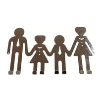 Appendiabiti Family in metallo 8 ganci cromo