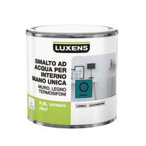 Smalto LUXENS base acqua blu miami 1 satinato 0.5 L