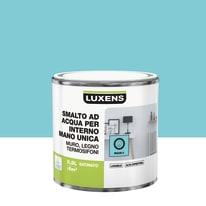 Smalto LUXENS base acqua blu miami 5 satinato 0.5 L