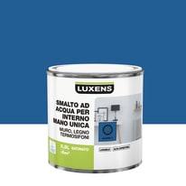 Smalto LUXENS base acqua blu zaffiro 2 satinato 0.5 L