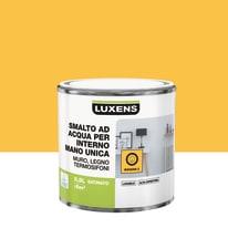 Smalto LUXENS base acqua giallo banana 3 satinato 0.5 L