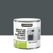 Smalto LUXENS base acqua grigio granito 1 satinato 0.5 L