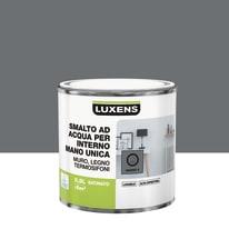 Smalto LUXENS base acqua grigio granito 2 satinato 0.5 L