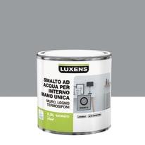 Smalto LUXENS base acqua grigio granito 3 satinato 0.5 L