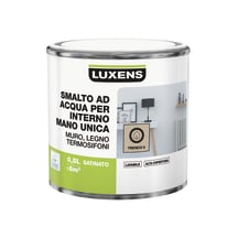Smalto LUXENS base acqua marrone moka 3 satinato 0.5 L