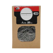 Chiodo testa groppino STANDERS grigio / argento 20 x Ø 1.2 mm, 3000 pezzi