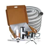 Kit tubo in inox 316l (elevata resistenza in condizioni climatiche estreme) L 80 cm x Ø 80 mm