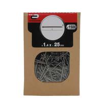 Chiodo testa groppino STANDERS grigio / argento 25 x Ø 1.4 mm, 1500 pezzi