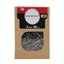Chiodo testa groppino STANDERS grigio / argento 30 x Ø 1.6 mm, 900 pezzi
