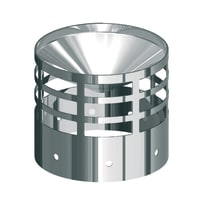 Raccordo per canna fumaria Griglia inox Dn 100 mm in inox 316l (elevata resistenza in condizioni climatiche estreme) Ø 100 mm