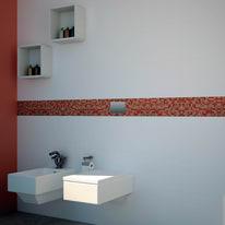 Mosaico Corallo H 30 x L 30 cm arancione, rosso