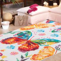 Tappeto Farfalle crema 100x150 cm