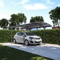 Carport in alluminio Lucca  auto L 495 X P 288 X H 242 cm