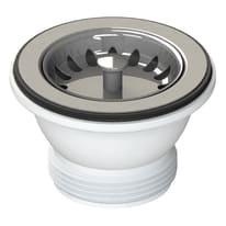 Piletta standard in inox per lavello/lavabo Ø 70 mm