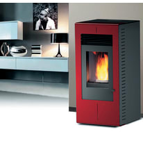Stufa a pellet Platinum 11 kW bordeaux