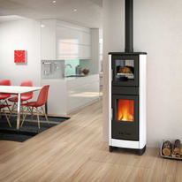 Stufa a legna con forno Malika 6.2 kW bianco