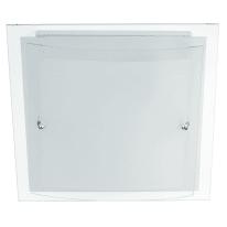 Plafoniera Dop bianco, in vetro, 30x30 cm, E27 2xMAX60W IP20