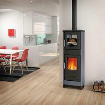 Stufa a legna con forno Malika 6.2 kW grigio