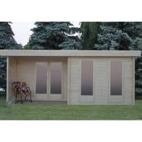 Casetta da giardino in legno Hannover 19.7 m² spessore 44 mm