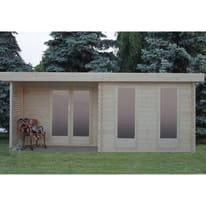 Casetta da giardino in legno Hannover 24.76 m² spessore 44 mm