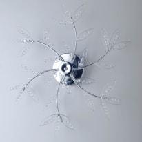 Plafoniera Asia trasparente, in cristallo, diam. 60, G4 6x20W IP20
