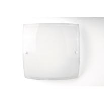 Plafoniera Leda trasparente, in vetro, 40x40 cm, LED integrato 20W IP20