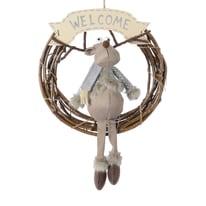 Corona di natale grigio / argento Ø 42 cm