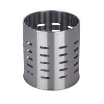 Porta posate in metallo acciaio lucido 12.6 x 13.1 x 12.6 cm