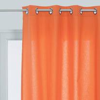 Tenda pronta INSPIRE Sunny arancione occhielli 140x280 cm