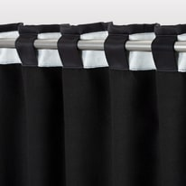 Tenda INSPIRE Oscurante termica Stop Cold nero fettuccia con passanti nascosti 140x280 cm