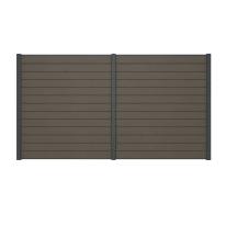 Pannello componibile kyoto grigio  L 368 x H 200 cm Sp 21 mm