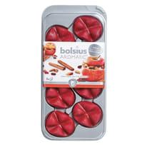 Candela profumata BOLSIUS essenza mela  Ø 0.4 cm H 19.5 cm, 8 pezzi
