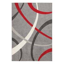 Tappeto Terra rosso e grigio 120x170 cm