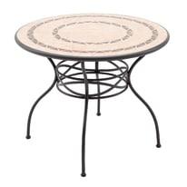 Tavolo da pranzo per giardino rotondo New Gijon NATERIAL in acciaio