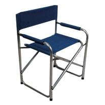 Sedia Regista in alluminio colore blu 1