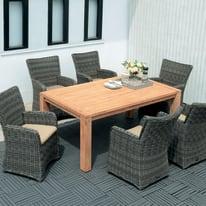 Tavolo rettangolare Australia in legno L 100 x P 180 cm