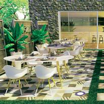 Tavolo ovale Chamonix in legno L 105 x P 190 cm