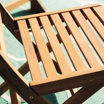 Sedia NATERIAL in legno colore marrone