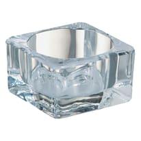 Porta tea light in vetro trasparente BOLSIUS H 4.2 cm, L 7.5 x L 7.5 cm Ø 7.5 cm