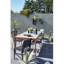 Tavolo rettangolare Washington in legno L 90 x P 196.2 cm