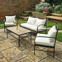 Tavolino da giardino rettangolare New Gijon NATERIAL in acciaio L 55 x P 95 cm