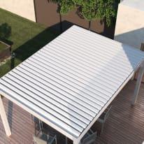 Pergola in alluminio Spell motorizzata bianco 300 cm x 2.42 m x 392 cm