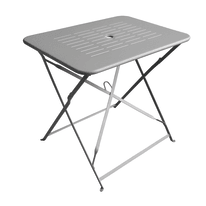 Set tavolo e sedie Dolly in metallo grigio / argento 2 posti