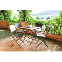 Tavolo da pranzo per giardino quadrata in acciaio L 60 x P 60 cm