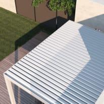 Pergola in alluminio addossata Spell motorizzata bianco 300 cm x 2.42 m x 392 cm