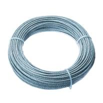 Cavo 42 fili in acciaio zincato Ø 3 mm x 25 m