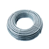 Cavo STANDERS 72 fili in acciaio zincato Ø 6 mm x 25 m